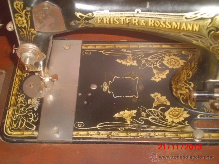Antigüedades: FANTASTICA MAQUINA DE COSER FRISTER & ROOSMANN - Foto 3 - 40089840