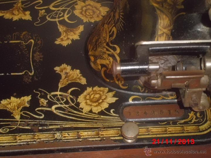 Antigüedades: FANTASTICA MAQUINA DE COSER FRISTER & ROOSMANN - Foto 5 - 40089840
