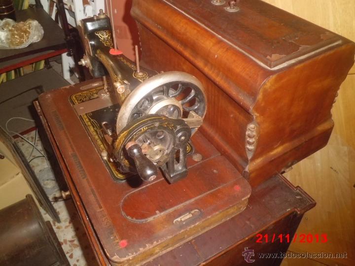 Antigüedades: FANTASTICA MAQUINA DE COSER FRISTER & ROOSMANN - Foto 8 - 40089840