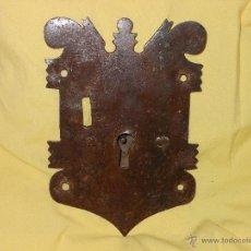 Antigüedades: CERRADURA DE ARCA 17 X 12 CM. Lote 40095027