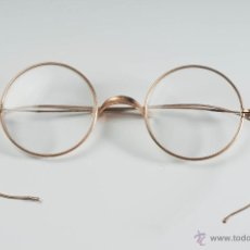 Antigüedades: ANTIGUAS GAFAS CON MONTURA DORADA. Lote 40118503
