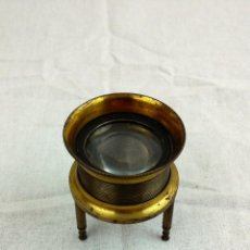 Antigüedades: LUPA BRONCE, ALTURA REGULABLE. Lote 40169177