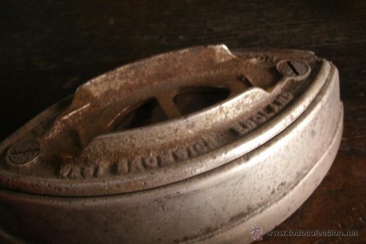 Antigüedades: ANTIGUA Y RARA PLANCHA MARCA KENRICK DE FABRICACIÓN INGLESA ORIGINAL DE FINALES DEL S. XIX - Foto 3 - 40169753