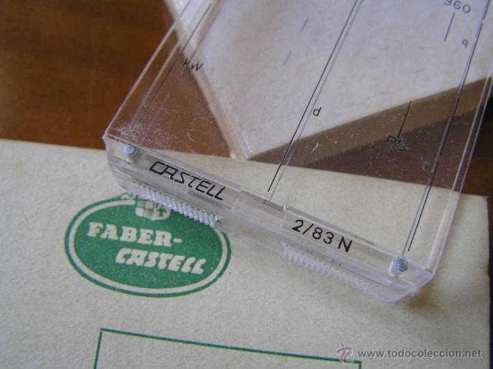 Antigüedades: CURSOR PARA REGLA DE CALCULO FABER CASTELL 2/83 N CALCULADORA RUNNER SLIDE RULE RECHENSCHIEBER - Foto 3 - 40176932