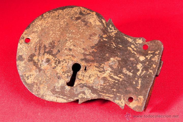 CERRADURA EN HIERRO FORJADO S-XVIII (Antigüedades - Técnicas - Cerrajería y Forja - Cerraduras Antiguas)