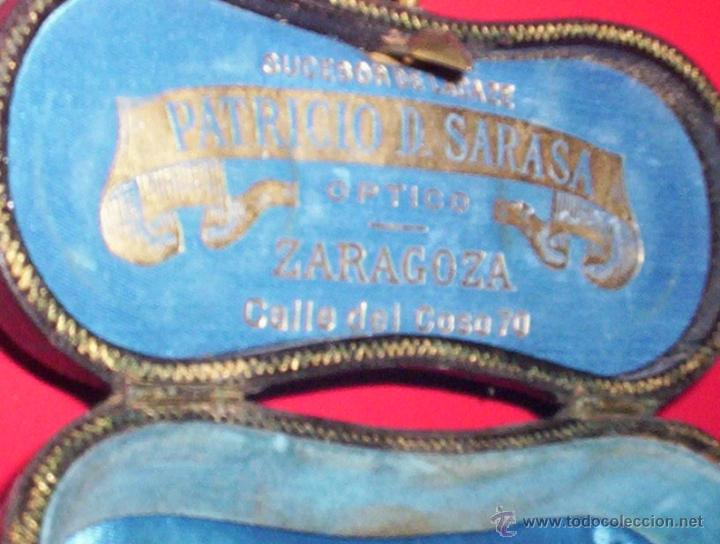 Antigüedades: preciosa funda estuche piel anteojos opera s. xix zaragoza patricio d. sarasa coso 70 - Foto 2 - 40187115