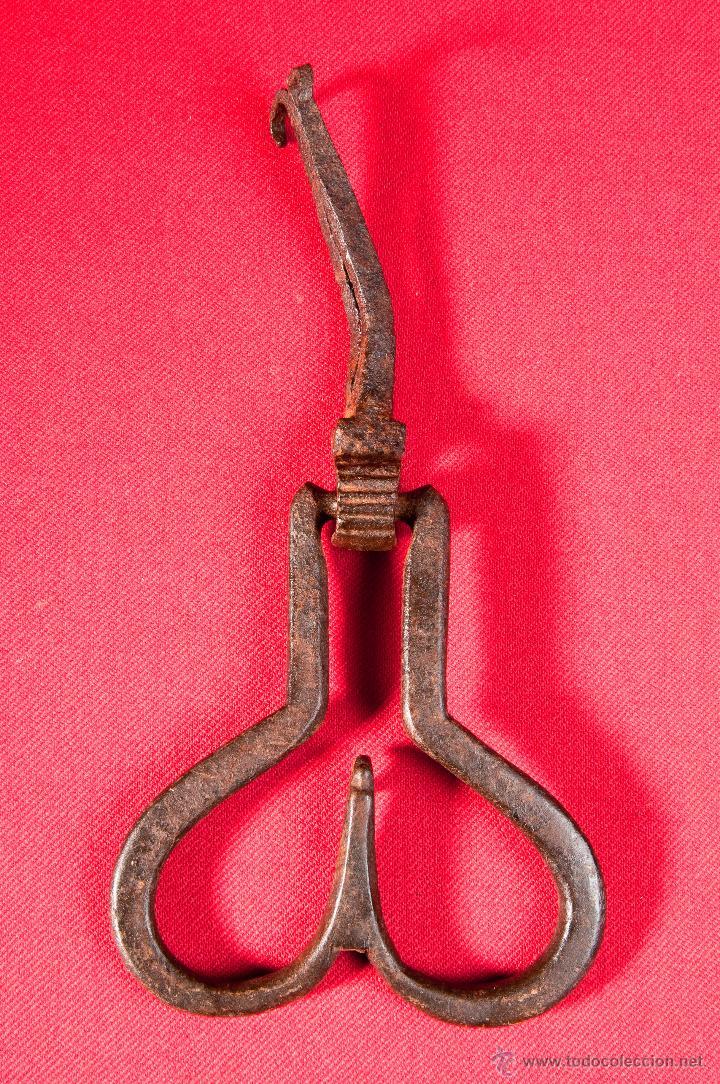 Antigüedades: LLAMADOR -ALDABA - PICAPORTE EN HIERRO FORJADO, S.XVIII - Foto 3 - 40190507