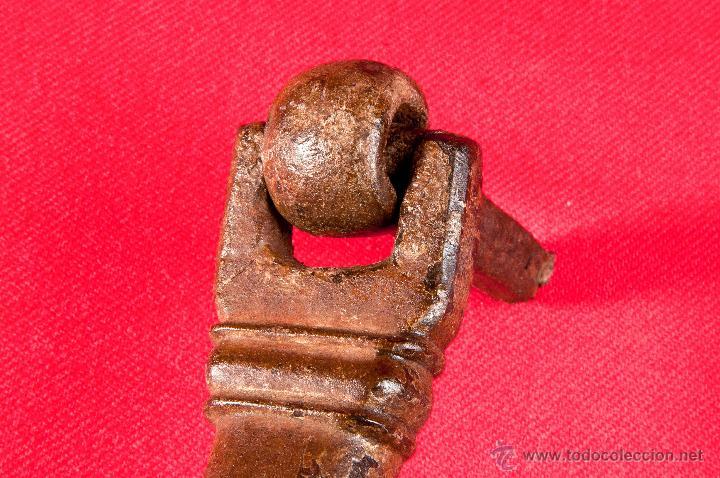 Antigüedades: LLAMADOR HIERRO FORJADO S- XVIII - Foto 5 - 40190514