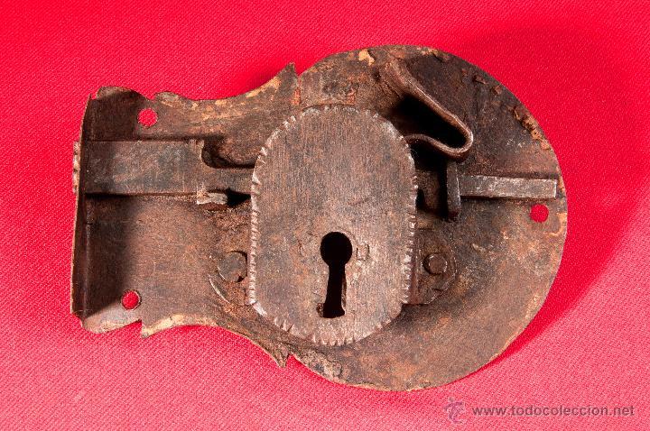 Antigüedades: CERRADURA EN HIERRO FORJADO S-XVIII - Foto 2 - 40190530