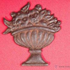 Antigüedades: PIEZA DECORACION DE HIERRO FORJADO, CENTRO DE FRUTAS. Lote 40201807