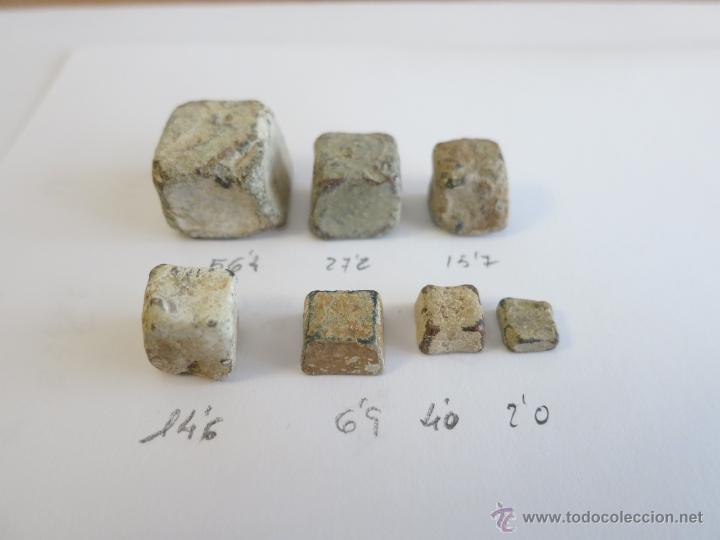 ANTIGUOS PONDERALES CUADRADOS (Antigüedades - Técnicas - Medidas de Peso - Ponderales Antiguos)