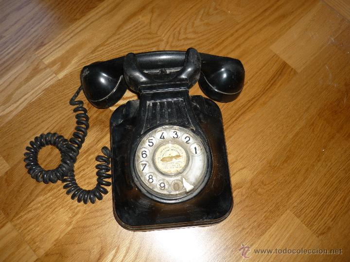 TELEFONO DE PARED BAQUELITA NEGRO CTNE AÑOS 50 60 , (Antigüedades - Técnicas - Teléfonos Antiguos)