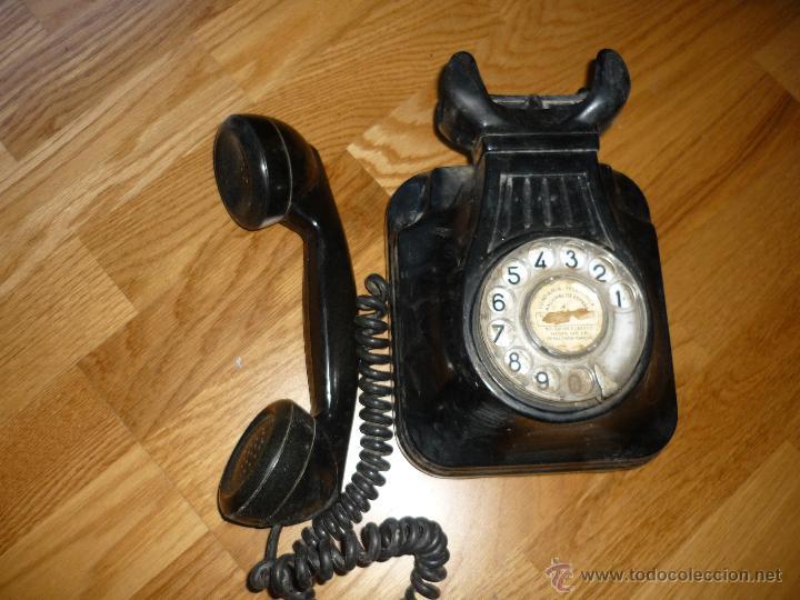 Teléfonos: TELEFONO DE PARED BAQUELITA NEGRO CTNE AÑOS 50 60 , - Foto 2 - 40316730