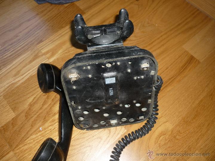 Teléfonos: TELEFONO DE PARED BAQUELITA NEGRO CTNE AÑOS 50 60 , - Foto 4 - 40316730