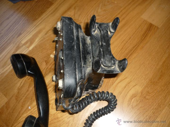 Teléfonos: TELEFONO DE PARED BAQUELITA NEGRO CTNE AÑOS 50 60 , - Foto 5 - 40316730