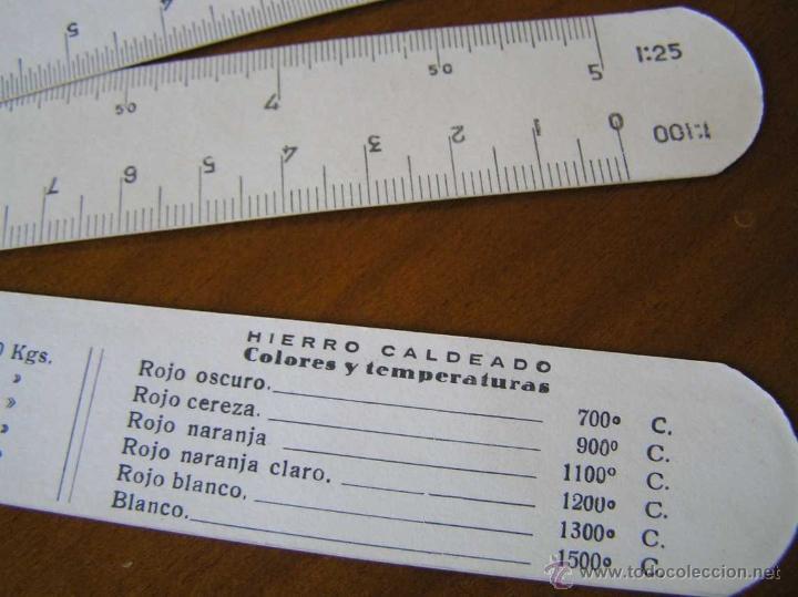 Antigüedades: ANTIGUO ESCALIMETRO DE CARTON - Foto 9 - 40342419