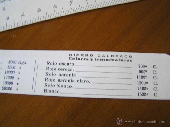 Antigüedades: ANTIGUO ESCALIMETRO DE CARTON - Foto 12 - 40342419