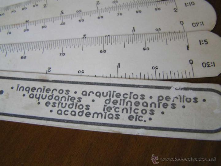 Antigüedades: ANTIGUO ESCALIMETRO DE CARTON - Foto 33 - 40342419