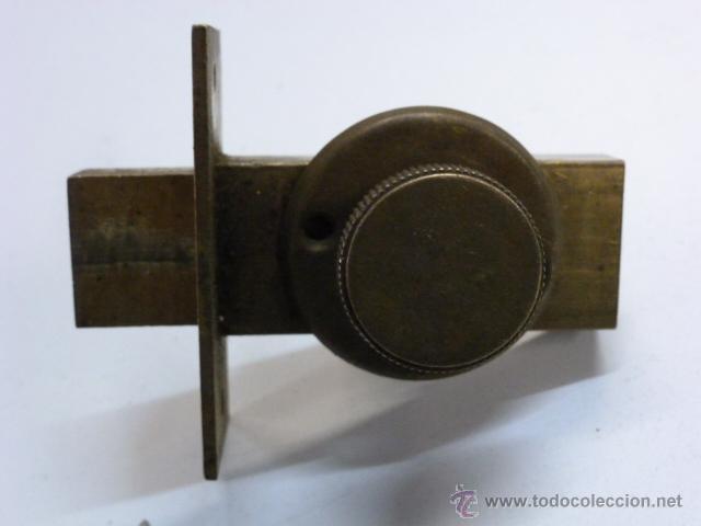 CERROJO DE LATON (Antigüedades - Técnicas - Cerrajería y Forja - Pestillos Antiguos)