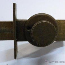 Antigüedades: CERROJO DE LATON. Lote 40344095