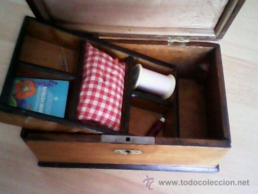 Antigüedades: ANTIGUA CAJA DE CASAMENTO TRADICION SUIZATODA EN MADERA MACIZA HECHA A MANO AÑOS 40,50.ESTA PERFECTA - Foto 5 - 40376848
