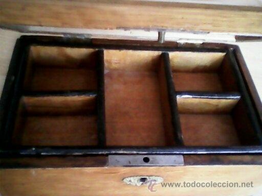 Antigüedades: ANTIGUA CAJA DE CASAMENTO TRADICION SUIZATODA EN MADERA MACIZA HECHA A MANO AÑOS 40,50.ESTA PERFECTA - Foto 7 - 40376848