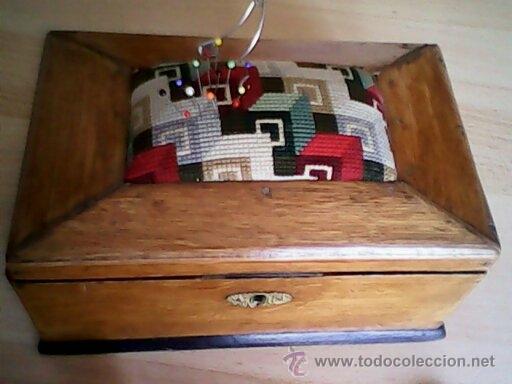Antigüedades: ANTIGUA CAJA DE CASAMENTO TRADICION SUIZATODA EN MADERA MACIZA HECHA A MANO AÑOS 40,50.ESTA PERFECTA - Foto 10 - 40376848