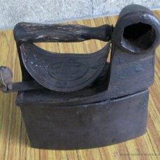 Antigüedades: PLANCHA CHIMENEA CARBON. Lote 40482612