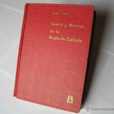 Antigüedades: LIBRO M. IBAÑEZ TEORIA Y MANEJO DE LA REGLA DE CALCULO TERCERA EDIC EDITORIAL DOSSAT 1955 SLIDE RULE. Lote 40504498