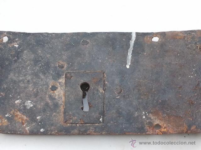 Antigüedades: ANTIGUA CERRADURA GRANDE SIN LLAVE - Foto 2 - 40632525