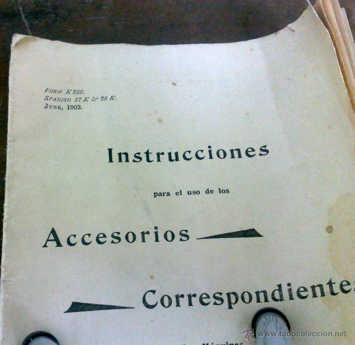 Antigüedades: COMPLETA Y ANTIGUA MAQUINA DE COSER SINGER. - Foto 16 - 40651541