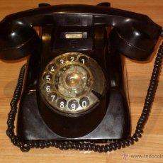Teléfonos: ANTIGUO TELEFONO ORIGINAL BAQUELITA NEGRA DE SOBREMESA.ANTIGUO MARCADO Y MARCA -PTT-.. Lote 38333120