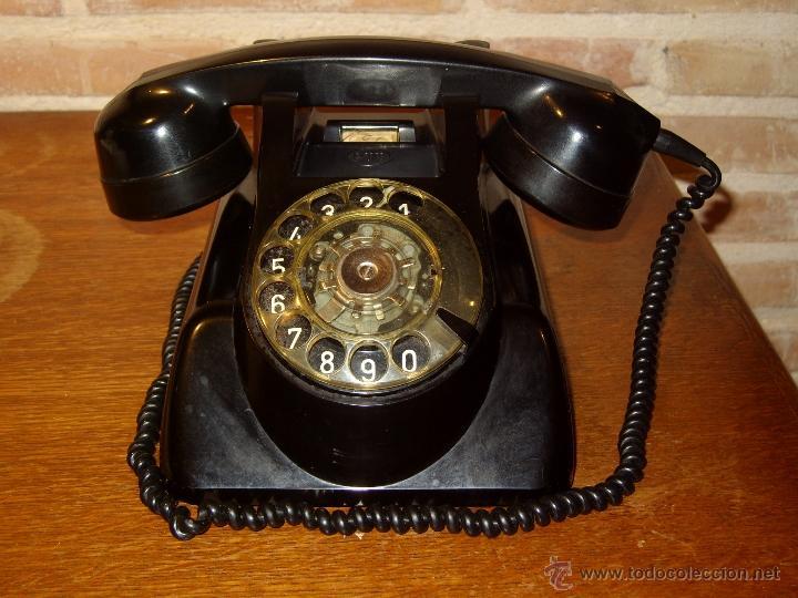 Teléfonos: ANTIGUO TELEFONO ORIGINAL BAQUELITA NEGRA DE SOBREMESA.ANTIGUO MARCADO Y MARCA -PTT-. - Foto 4 - 38333120