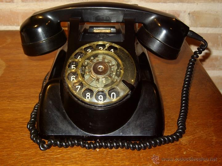 Teléfonos: ANTIGUO TELEFONO ORIGINAL BAQUELITA NEGRA DE SOBREMESA.ANTIGUO MARCADO Y MARCA -PTT-. - Foto 5 - 38333120