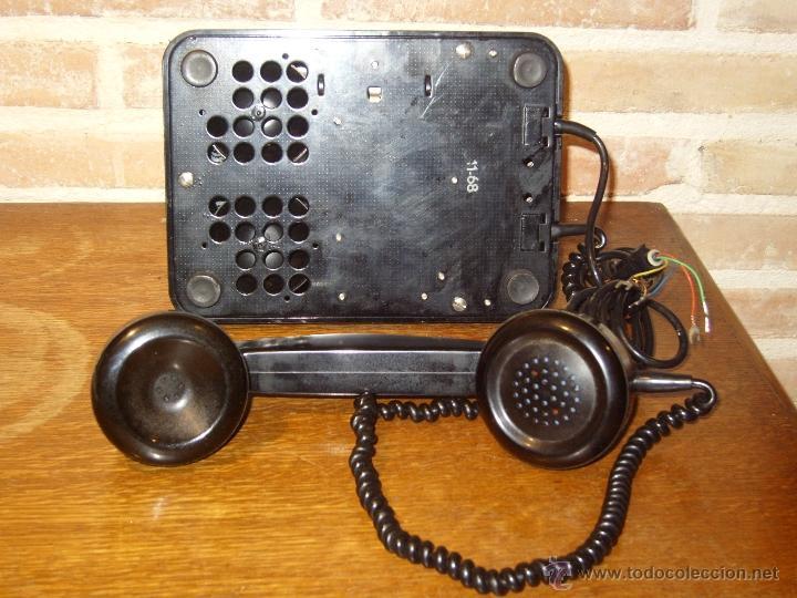Teléfonos: ANTIGUO TELEFONO ORIGINAL BAQUELITA NEGRA DE SOBREMESA.ANTIGUO MARCADO Y MARCA -PTT-. - Foto 6 - 38333120