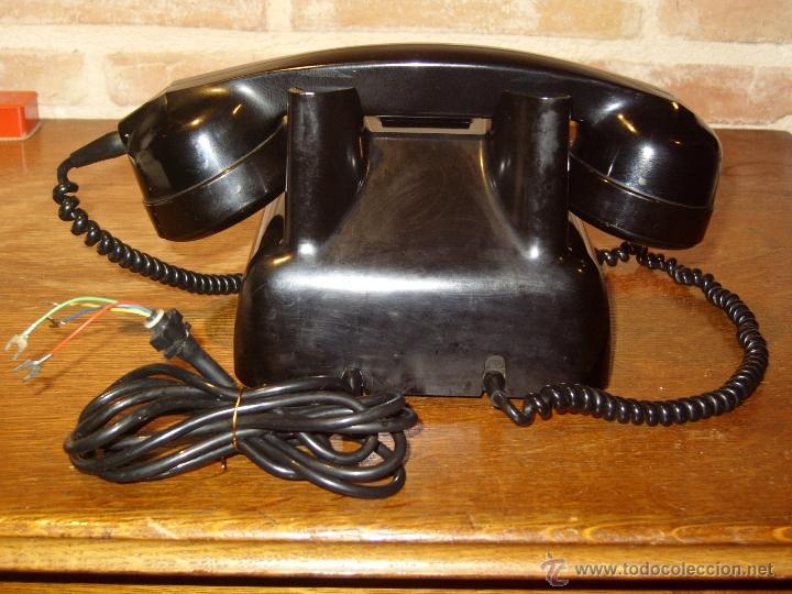 Teléfonos: ANTIGUO TELEFONO ORIGINAL BAQUELITA NEGRA DE SOBREMESA.ANTIGUO MARCADO Y MARCA -PTT-. - Foto 7 - 38333120