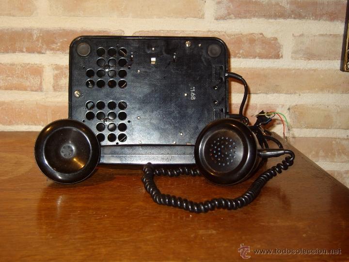 Teléfonos: ANTIGUO TELEFONO ORIGINAL BAQUELITA NEGRA DE SOBREMESA.ANTIGUO MARCADO Y MARCA -PTT-. - Foto 8 - 38333120