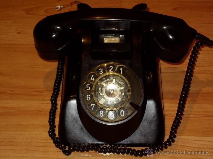 Teléfonos: ANTIGUO TELEFONO ORIGINAL BAQUELITA NEGRA DE SOBREMESA.ANTIGUO MARCADO Y MARCA -PTT-. - Foto 11 - 38333120