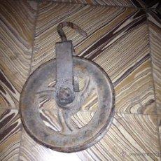 Antigüedades: ANTIGUA POLEA O GARRUCHA, TROCOLA,,. Lote 40664736