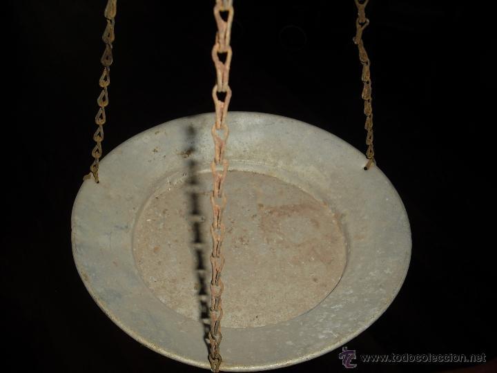 Antigüedades: balanza totalmente artesana, hierro forjado,platos hondos de aluminio - Foto 4 - 40692090