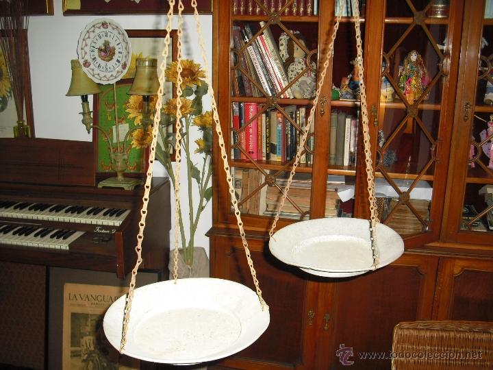 Antigüedades: balanza totalmente artesana, hierro forjado,platos hondos de aluminio - Foto 6 - 40692090