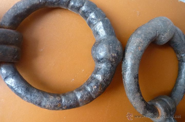 Antigüedades: LLAMADOR, MAGNÍFICA PAREJA DE ALDABAS O LLAMADORES EN FORJA, MUY ANTIGUOS - Foto 9 - 40791313