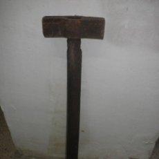 Antigüedades: ANTIGUO MAZO DE GRAN TAMAÑO - 75 CM. Lote 40828019