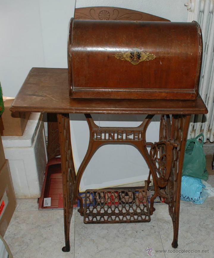 Antigua maquina coser singer con mesa y pedal a comprar - Mesas para coser a maquina ...
