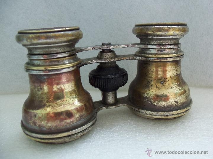 MUY ANTIGUOS BINOCULARES- BRONCE Y CROMO - (Antigüedades - Técnicas - Instrumentos Ópticos - Binoculares Antiguos)