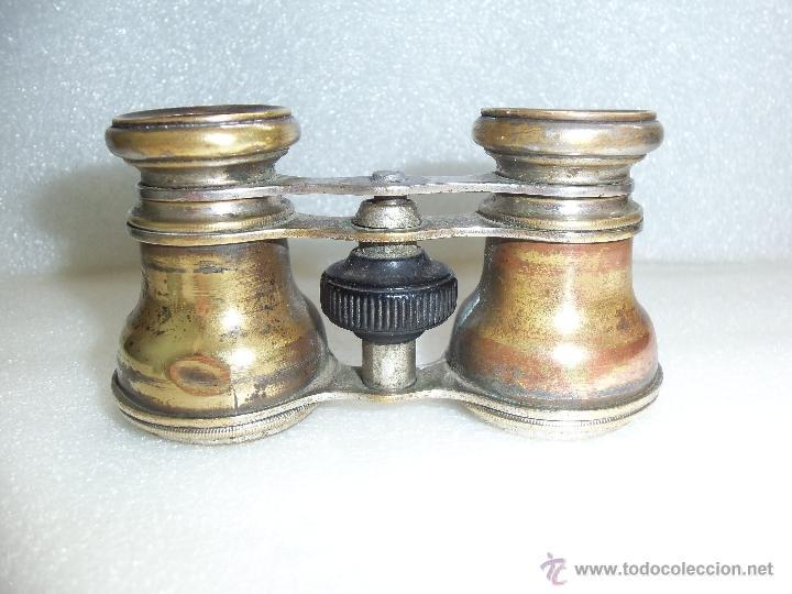 Antigüedades: Muy antiguos binoculares- Bronce y cromo - - Foto 3 - 40903492