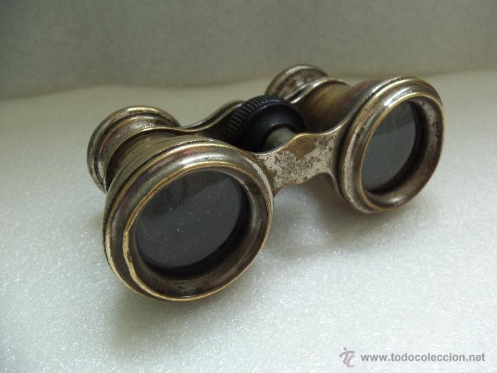 Antigüedades: Muy antiguos binoculares- Bronce y cromo - - Foto 7 - 40903492