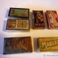 Antigüedades: LOTE DE 6 CAJAS COMPLETAS DE 10 HOJAS DE AFEITAR (CADA UNA), SELLADAS Y CON PRECINTO. Lote 40907630