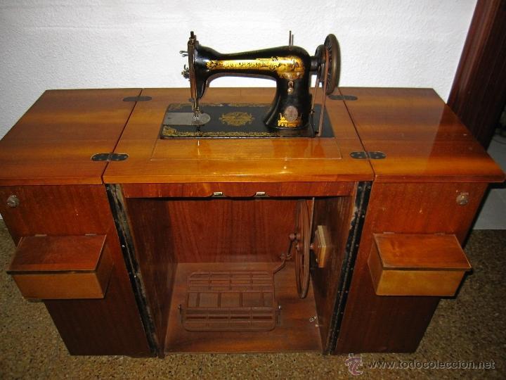 Antigua maquina de coser singer modelo esfinge comprar - Mueble para maquina de coser ...