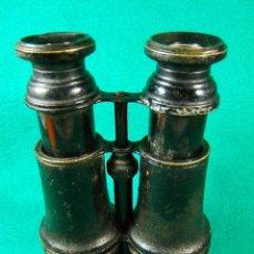 Antigüedades: PRISMATICOS-BINOCULARES-MILITARES DE CAMPAÑA I GUERRA MUNDIAL-PARASOL METAL PLEGABLE Y CUERO-1915 ?.. Lote 40949851